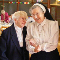 Mary Campion, CSJP celebrating her 100th birthday with Mary Coen, CSJP who is celebrating her Diamond Jubilee!